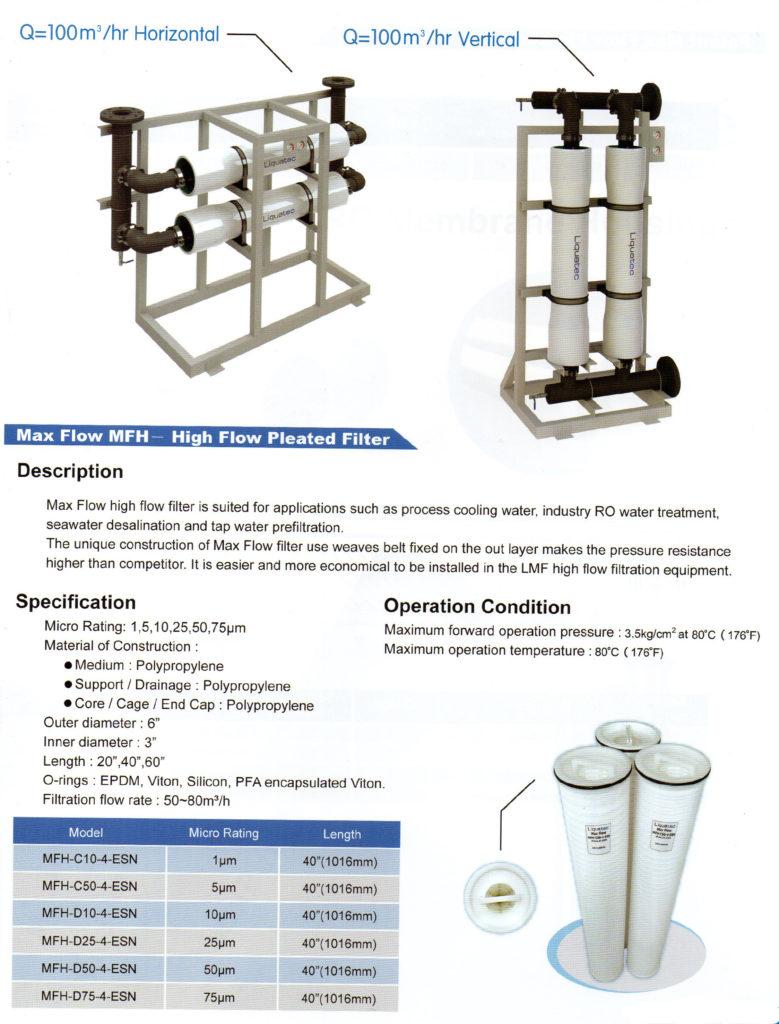 PIC 01 mikro filtration 100m3 per hour